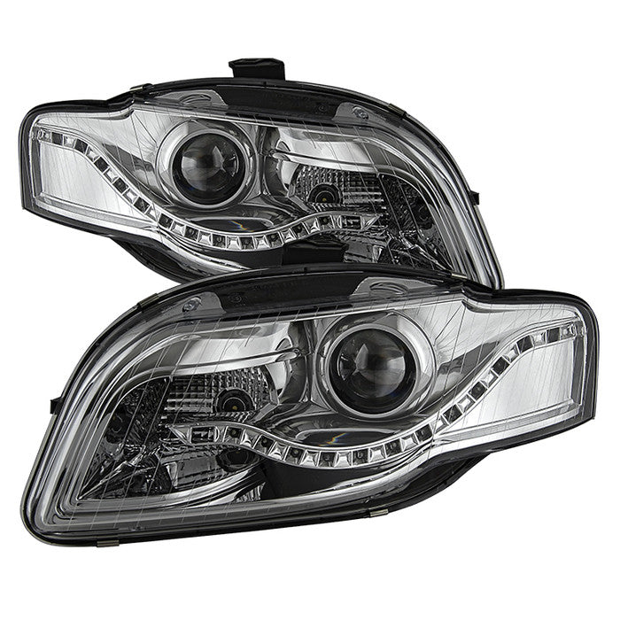 Audi A Spyder Projector Headlights DRL LED Chrome - 2006 audi a4 headlights