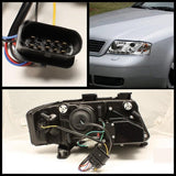Audi A6 2002-2004 | Spyder Projector Headlights | DRL | Chrome