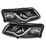 Audi A6 2005-2007 | Spyder Projector Headlights | Light Tube DRL | Black