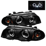 BMW E46 3-Series 99-01 4DR Spyder Projector Headlights 1PC - LED Halo - Amber Reflector - Black
