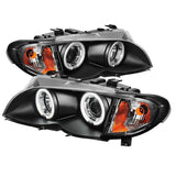 BMW E46 3 Series 2002-2005 4DR | Spyder Projector Headlights 1PC CCFL Halo | Black