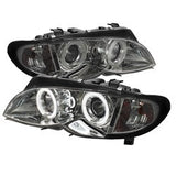 BMW E46 3-Series 02-05 4DR Spyder Projector Headlights 1PC - CCFL Halo - Smoke