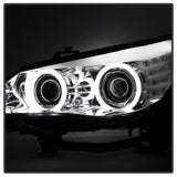 BMW E60 5-Series ( D2S HID ) 04-07 Spyder Projector Headlights - CCFL Halo - Chrome