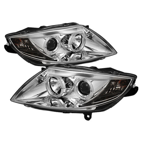 BMW Z4 03-08 Spyder Projector Headlights - LED Halo - Chrome