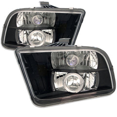 Ford Mustang 05-09 Spyder Projector Headlights - Halogen Model Only - LED Halo - LED - Black