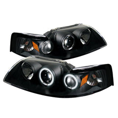 Ford Mustang 99-04 Spyder Projector Headlights - CCFL Halo - Black