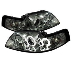 Ford Mustang 99-04 Spyder Projector Headlights - CCFL Halo - Smoke