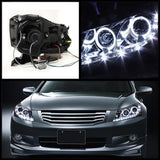 Honda Accord 08-12 4Dr Spyder Projector Headlights - LED Halo - DRL - Black