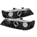 Honda Accord 94-97 1PC Spyder Projector Headlights - CCFL Halo - Black