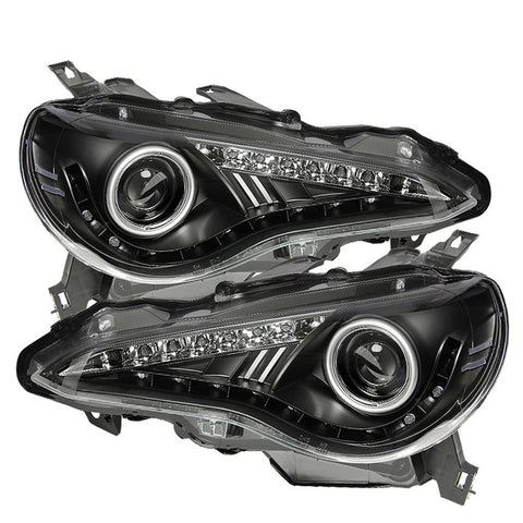 Subaru BRZ 12-14 Spyder Projector Headlights- DRL - LED - Smoke