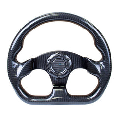 NRG Innovations | Steering Wheel | Shiny Black Carbon Fiber 320mm Flat Bottom