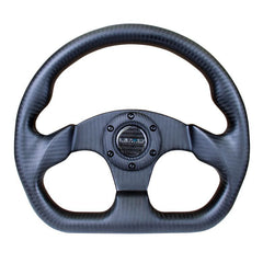 NRG Innovations | Steering Wheel | Matte Black Carbon Fiber 320mm Flat Bottom