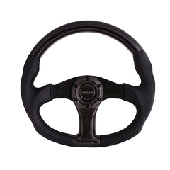 NRG Innovations | Steering Wheel | Carbon Fiber Black Carbon Oval Shape