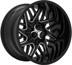 Toxic Lethal 20x12 Truck Alloy Wheel / Rims | Gloss Black Milled Undercut