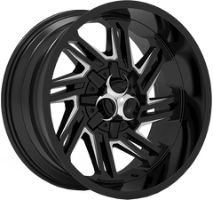 Toxic Razr 20x10 Truck Alloy Wheel / Rims | Gloss Black Milled Undercut