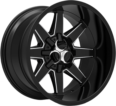 Toxic Widow 20x12 Truck Alloy Wheel / Rims | Gloss Black Milled Undercut