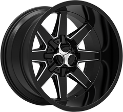 Toxic Widow 20x10 Truck Alloy Wheel / Rims | Gloss Black Milled Undercut