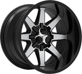 Toxic Widow 20x9 Truck Alloy Wheel / Rims | Gloss Black Machined Face