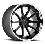 Blaque Diamond 20x10 BD-23 Alloy Wheels / Rims | Gloss Black Chrome Lip