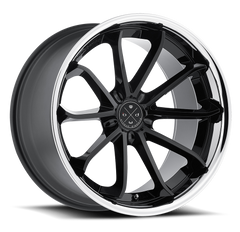 Blaque Diamond 20x10 BD-23 Alloy Wheels / Rims, Gloss Black w/ Chrome Lip