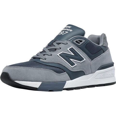 New Balance 597 Modern Classic Shoe - Men's Gunmetal/Thunder, 8.5