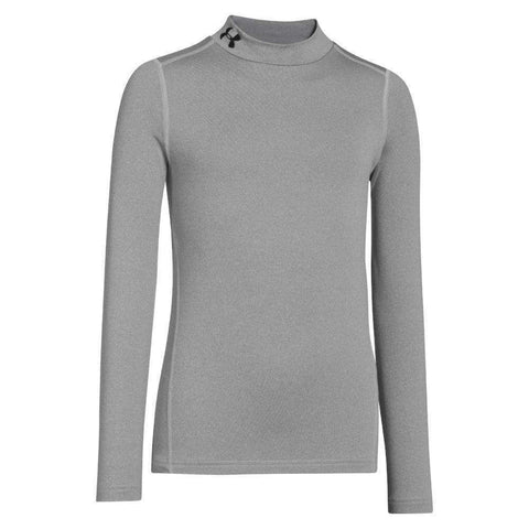 Under Armour Boys' ColdGear Evo Fitted Long Sleeve Mock Shirt,Under Armour,citysports.com