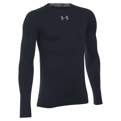 Under Armour Boys' HeatGear Armour Long Sleeve Fitted Shirt,Under Armour,citysports.com