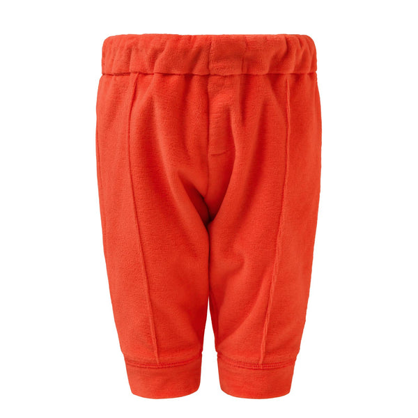Orange Terry Lounge Baby Pants