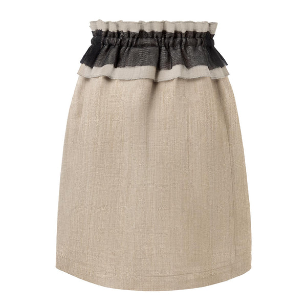 World Exlusive Limited Edition Lotus Skirt with Linen Ruffle