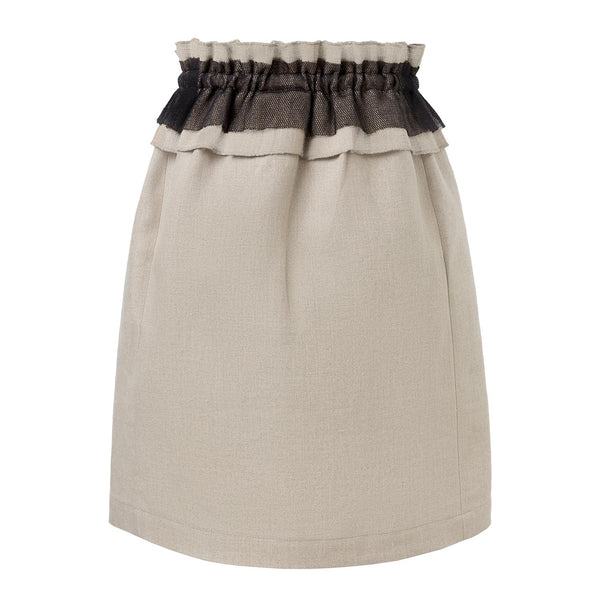 Linen Skirt with Ruffles
