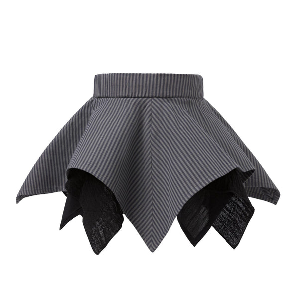 Handkerchief Skirt in Gray Stripes