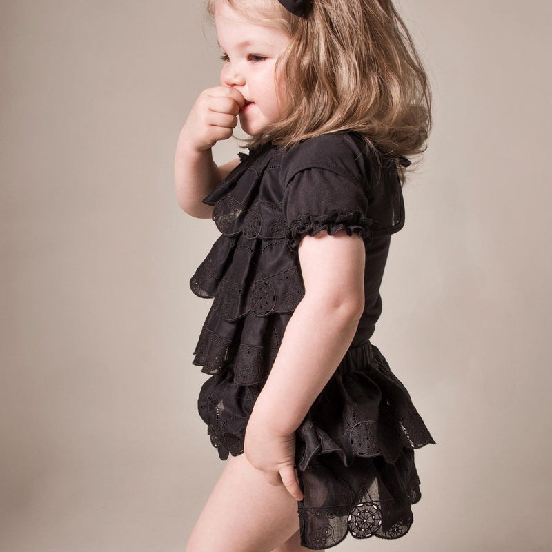 baby bloomers, baby girls diaper cover, black diaper cover, black bloomers