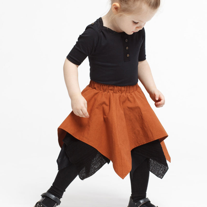 Baby Handkerchief Skirt in Copper