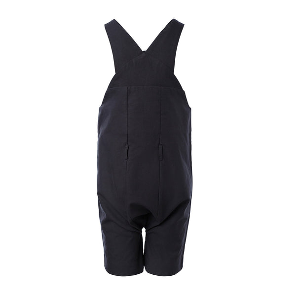 Cotton Farmer Dungaree in Black