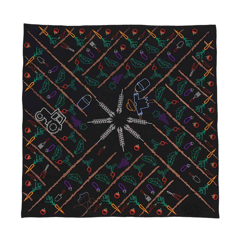 Black Bandana with Embroidery