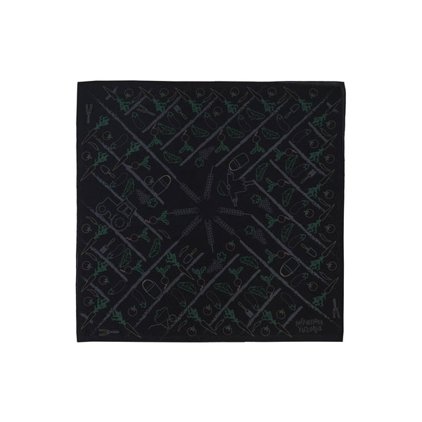 Black Bandana with Print