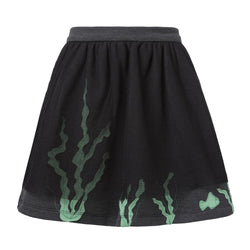 Jersey Skirt with Tulle and Marine Applications