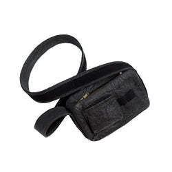 vegan crossbody bag, black pinatex vegan handbad, faux leather bag, crossbody purse for kids