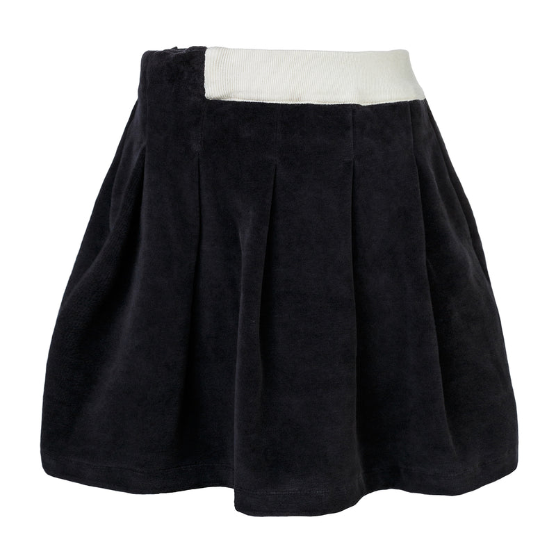 Black Velvet Skirt for Girls
