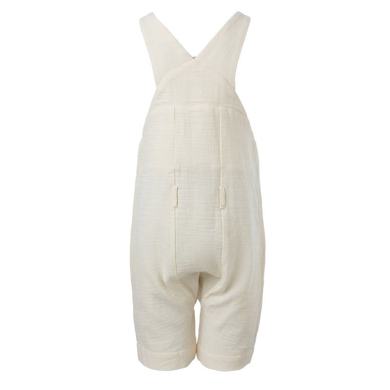 Cotton Farmer Dungaree in Off-white