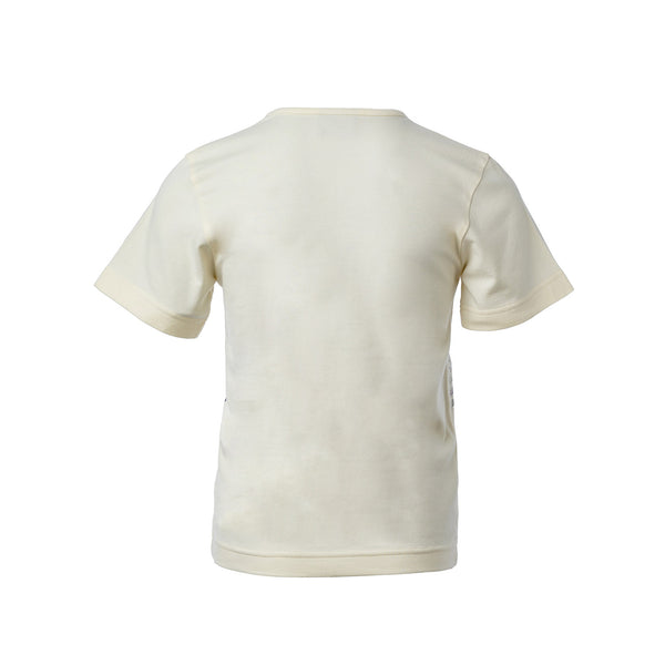 Off-White Short Sleeve T-Shirt with Toscana Print