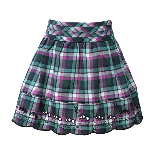 Tartan Mini Skirt with Pleated Belt