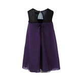 Purple Babydoll Dress with Mesh Lining