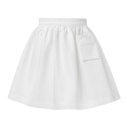 White Gabardine Cotton Skirt
