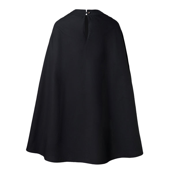 Black Cape Gown with Hand Smock