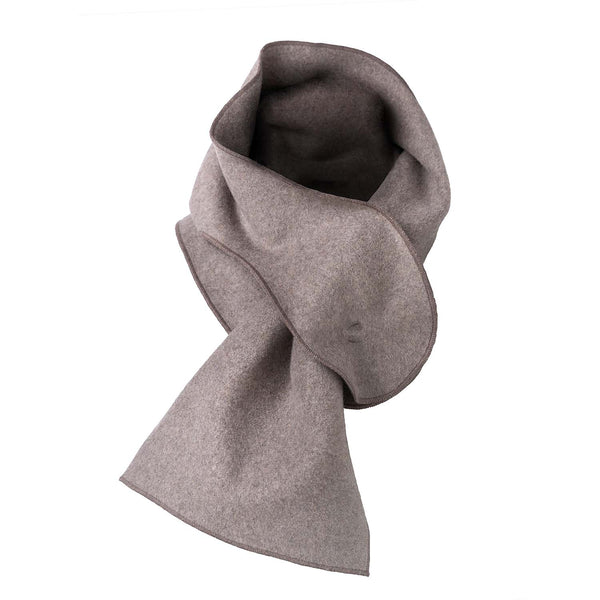 Beige Cotton Fleece Scarf