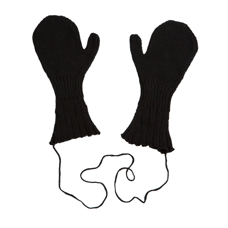 Knitted Black Gloves