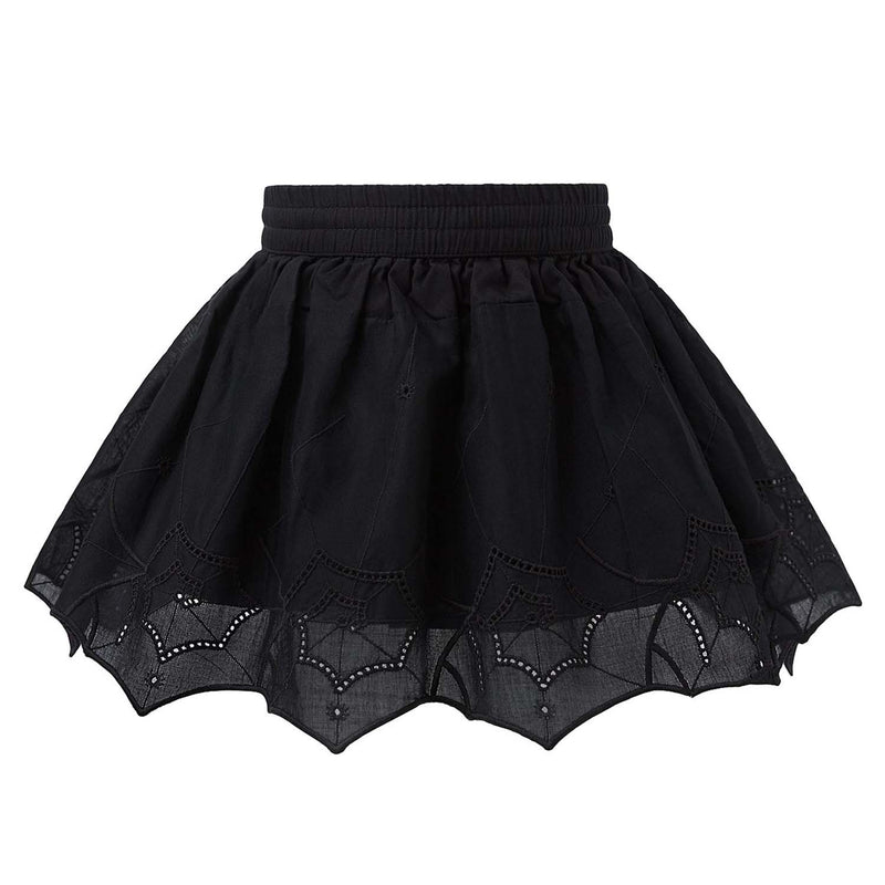Black Spiderweb Lace Skirt