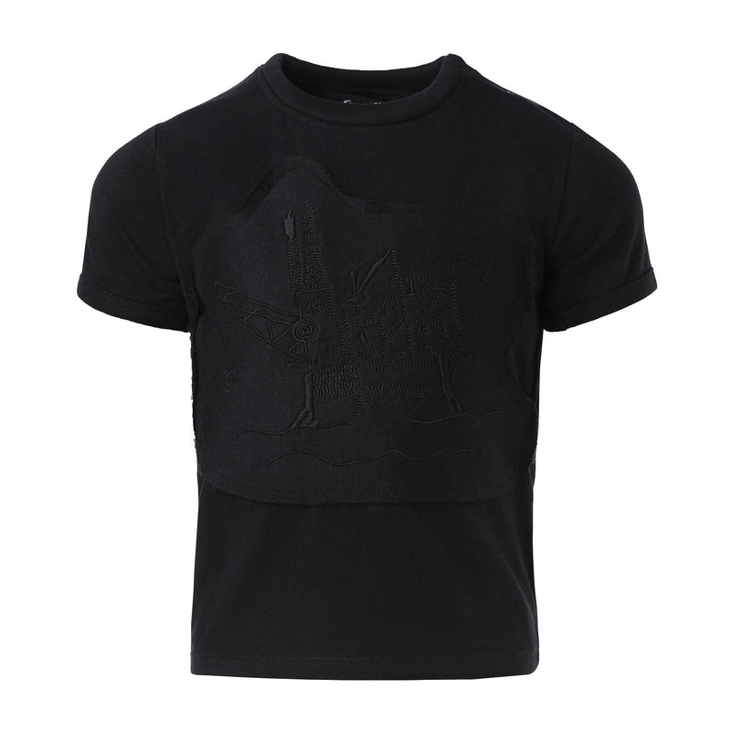 Black T-Shirt with Oil Rig