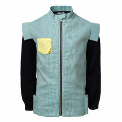 Pirate Jacket Organic Cotton Jacket with Knitted Sleeves